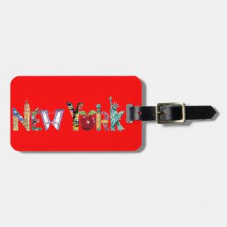 Etiqueta del equipaje de Nueva York Etiquetas Para Maletas