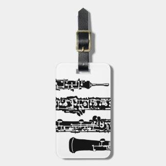 Etiqueta del equipaje de Oboe Etiquetas De Equipaje