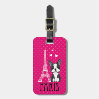 Etiqueta del equipaje de París de la torre Eiffel  Etiquetas Maleta