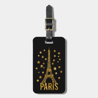 Etiqueta del equipaje de París de la torre Eiffel  Etiquetas Maletas