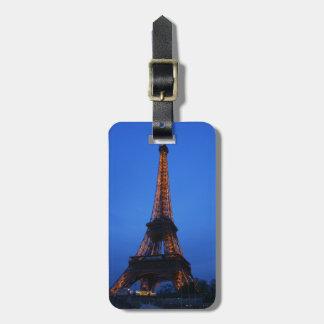 Etiqueta del equipaje de París Etiquetas Maletas