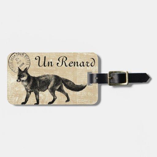 Etiqueta del equipaje de Renard (francés para el