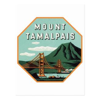 Etiqueta del equipaje de Tamalpais del soporte Tarjetas Postales