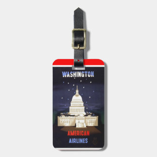 Etiqueta del equipaje de Washington del vintage Etiquetas Bolsas
