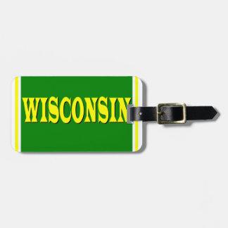 Etiqueta del equipaje de Wisconsin LL Etiqueta Para Equipaje