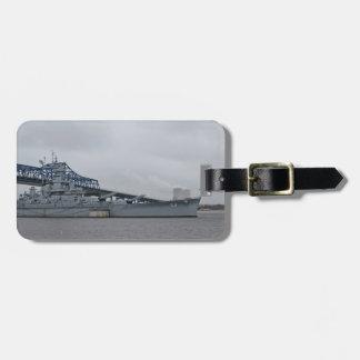 Etiqueta del equipaje del acorazado de la USS Etiqueta Para Maleta