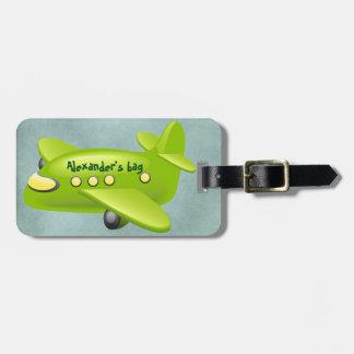 Etiqueta del equipaje del aeroplano (personalice) etiquetas bolsa