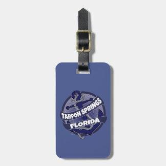 Etiqueta del equipaje del ancla de Tarpon Springs Etiquetas Maleta