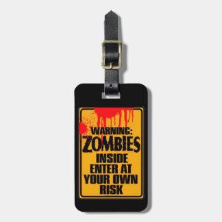 Etiqueta del equipaje del ataque del zombi etiquetas de equipaje