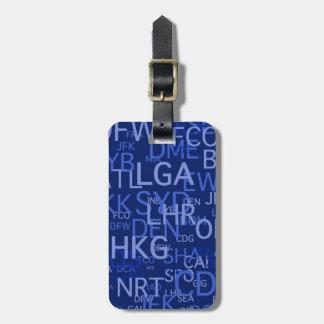 Etiqueta del equipaje del aviador frecuente etiquetas de maletas