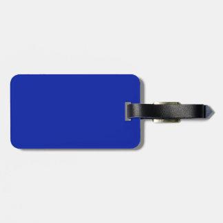 Etiqueta del equipaje del azul negro y real etiqueta para maleta