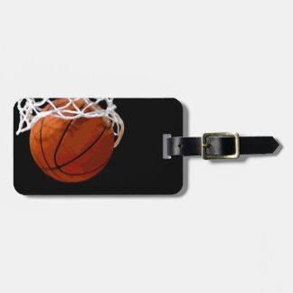 Etiqueta del equipaje del baloncesto etiqueta de equipaje