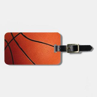 Etiqueta del equipaje del baloncesto etiquetas de maletas