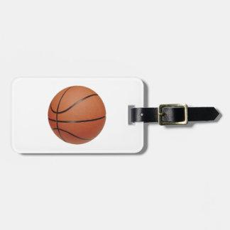 Etiqueta del equipaje del baloncesto etiquetas de equipaje