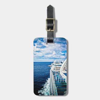 Etiqueta del equipaje del barco de cruceros etiquetas maletas