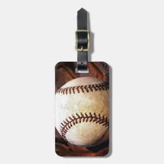 Etiqueta del equipaje del béisbol etiquetas bolsas