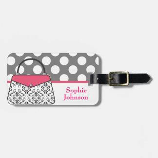 Etiqueta del equipaje del bolso monedero del damas etiqueta para maleta