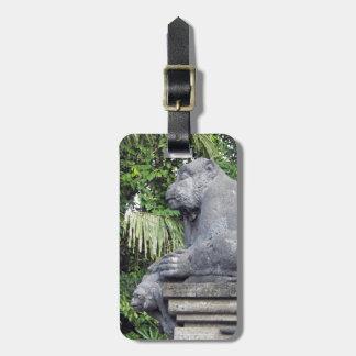 Etiqueta del equipaje del bosque del mono
