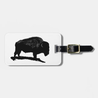 Etiqueta del equipaje del búfalo