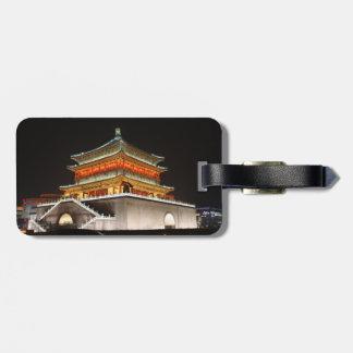 Etiqueta del equipaje del campanario de Xi'an Etiquetas Maleta