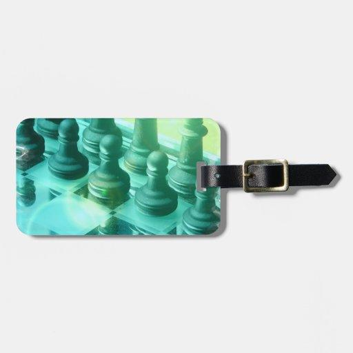 Etiqueta del equipaje del campeón del ajedrez etiqueta de equipaje
