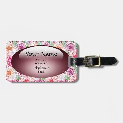 Etiqueta del equipaje del caramelo del jardín etiquetas de maletas