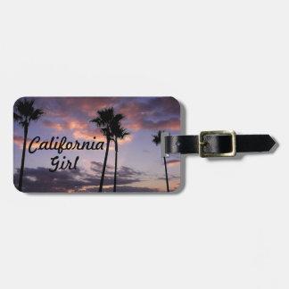 Etiqueta del equipaje del chica de California Etiquetas Bolsas