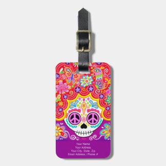 ¡Etiqueta del equipaje del chica del cráneo del az Etiquetas De Equipaje
