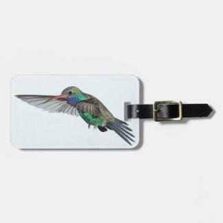 Etiqueta del equipaje del colibrí etiquetas bolsa