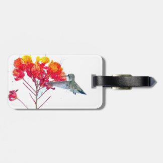 Etiqueta del equipaje del colibrí etiquetas de maletas