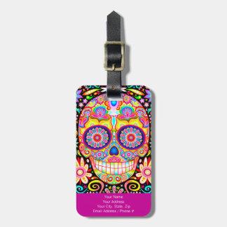 ¡Etiqueta del equipaje del cráneo del azúcar - Etiquetas Bolsas