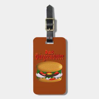 etiqueta del equipaje del das Burgermeister Etiquetas Bolsas