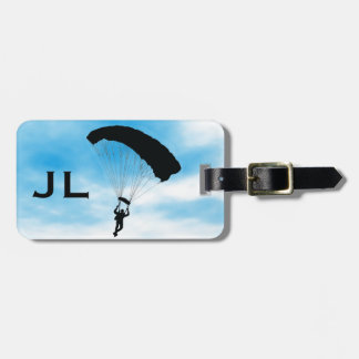 Etiqueta del equipaje del diseño de Skydiving que  Etiquetas Bolsas