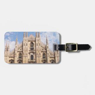 Etiqueta del equipaje del Duomo de Milano Etiquetas Para Maletas