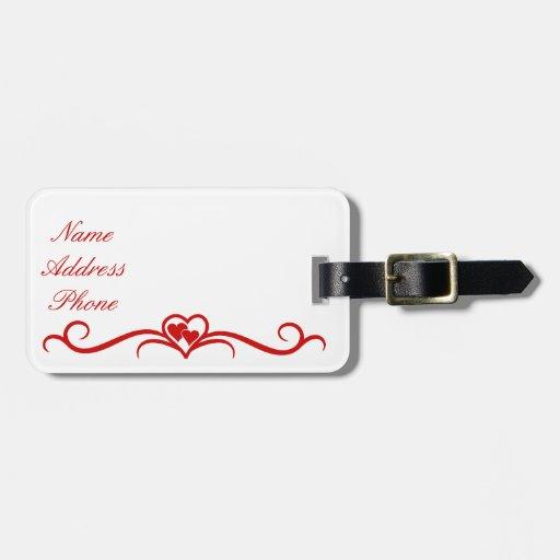 Etiqueta del equipaje del el día de San Valentín Etiquetas Maletas