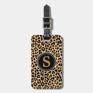 Etiqueta del equipaje del estampado leopardo del m etiquetas maletas