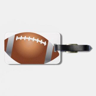 Etiqueta del equipaje del fútbol de los deportes etiquetas bolsas