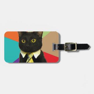 Etiqueta del equipaje del gato del negocio etiquetas bolsas