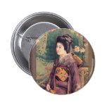 Etiqueta del equipaje del geisha pins