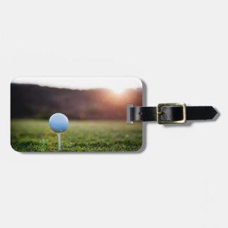 Etiqueta del equipaje del golf etiqueta de maleta