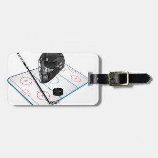 Etiqueta del equipaje del hockey sobre hielo