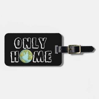 Etiqueta del equipaje del hogar de la tierra del etiquetas bolsas