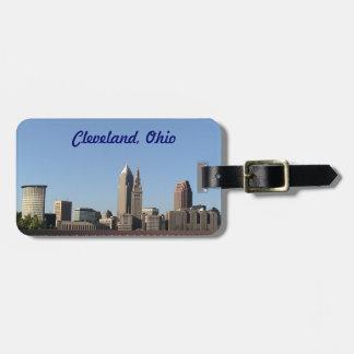Etiqueta del equipaje del horizonte de Cleveland O Etiqueta Para Maleta