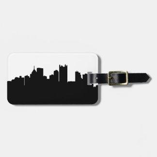 Etiqueta del equipaje del horizonte de Pittsburgh Etiqueta De Maleta