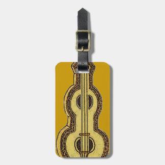 Etiqueta del equipaje del instrumento del Dulcimer Etiqueta De Maleta