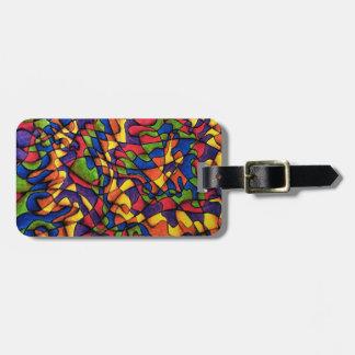 Etiqueta del equipaje del laberinto del arco iris etiquetas bolsa