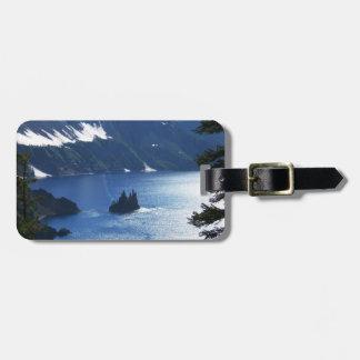 Etiqueta del equipaje del lago crater etiquetas de equipaje
