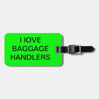 Etiqueta del equipaje del manipulador del correo etiqueta para equipaje