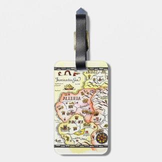 Etiqueta del equipaje del mapa de la fantasía de l etiquetas maletas