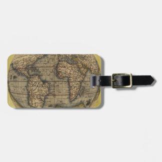 Etiqueta del equipaje del mapa del mundo de Orteli Etiquetas Bolsa